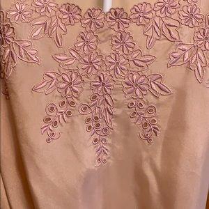 Forever 21 Tops - Forever 21 light pink floral silk blouse